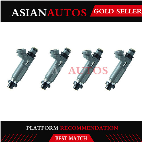 4pcs Fuel Injector Nozzle For Mazda Protege 1997-1998 1.5L 1999-2001 1.6L <font><b>195500</b></font>-<font><b>3110</b></font> 1955003110 <font><b>195500</b></font> <font><b>3110</b></font> image