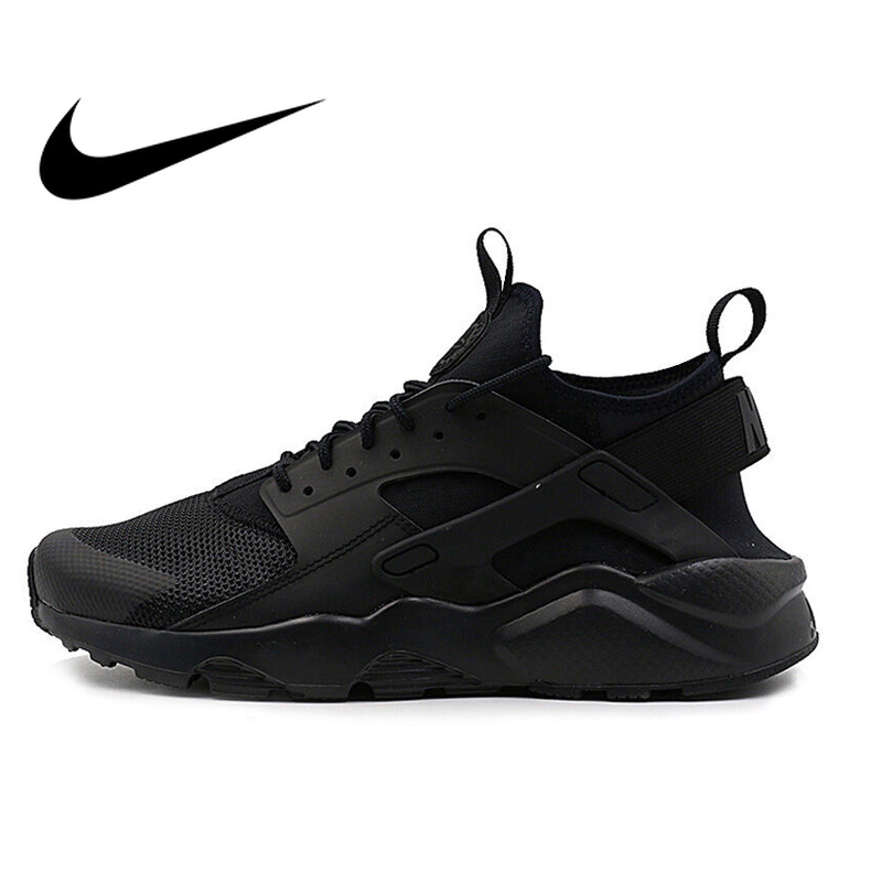 Original NIKE AIR HUARACHE RUN ULTRA Men's Breathable Running Shoes Sport Sneakers Outdoor Ultra Boost Athletic Durable 819685