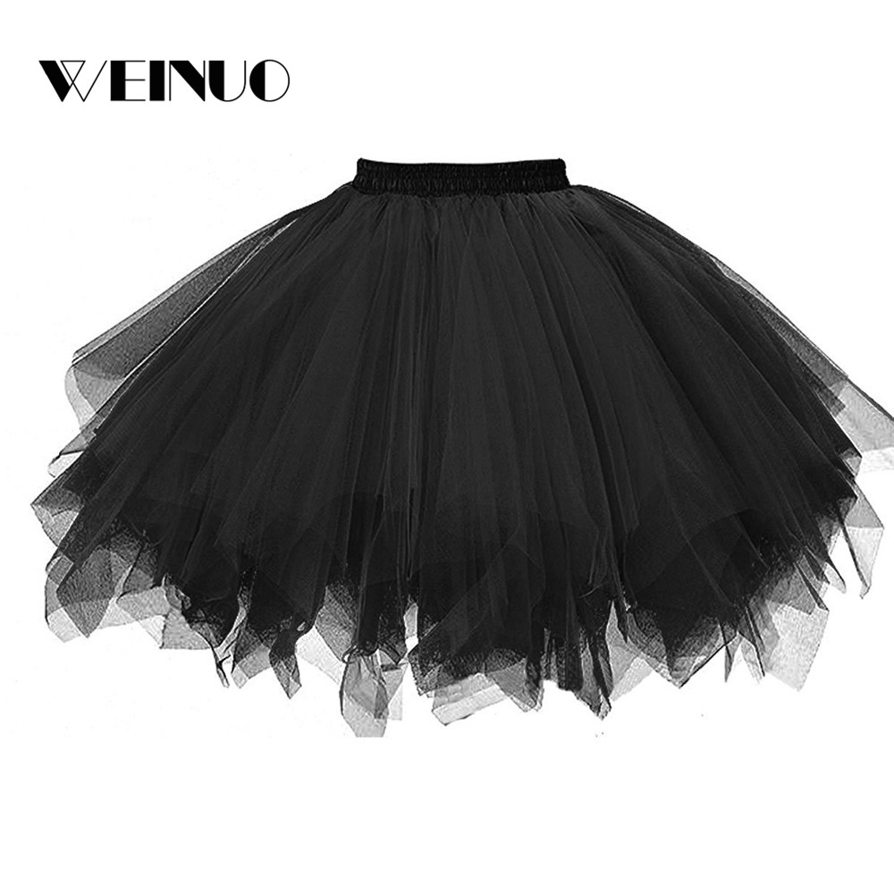 Skirts Womens Mini Skirt 2019Top Womens High Quality Pleated Gauze Short Adult Tutu Dancing Skirt Tulle Faldas Mujer Moda 2019