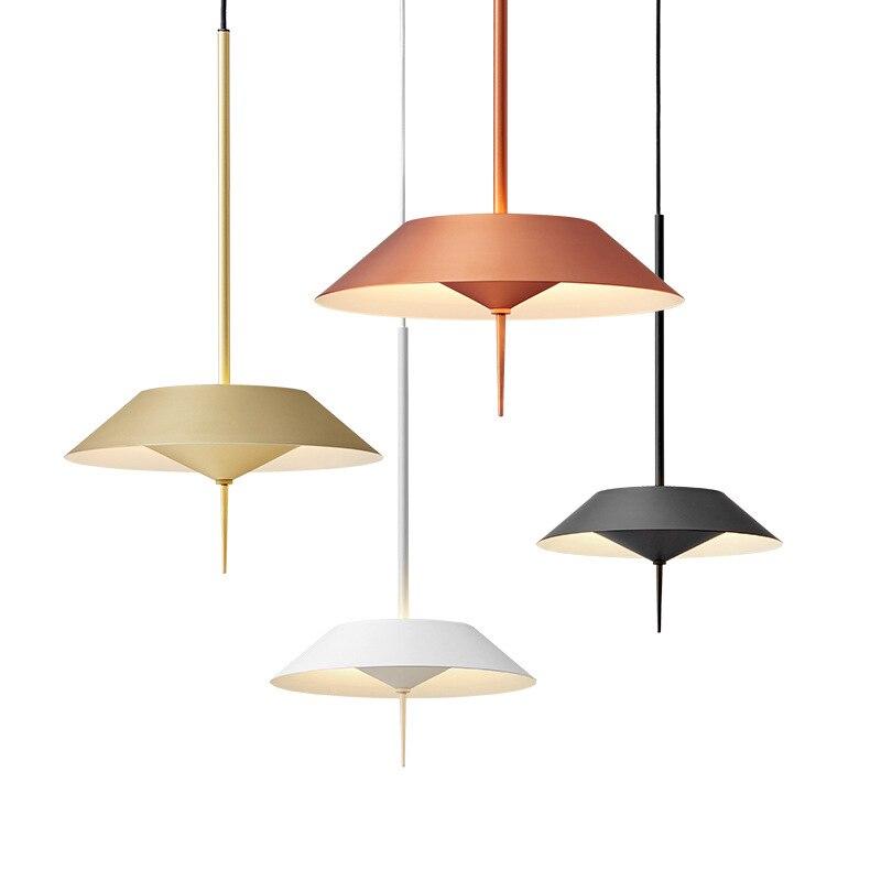 Designer scandinave ligne créative suspension lampe salon chambre moderne LED géométrique modélisation art suspension lumières