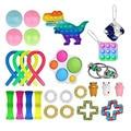 Набор игрушек для снятия стресса, игрушки-антистресс, Стрейчевые струны, сетчатые мраморные рельефные игрушки для взрослых и девочек, детск...