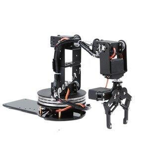 Image 4 - Arduino Robot 6 DOF Alluminio Morsetto Claw Mount Meccanico Braccio Robotico Servi Metallo Servo Horn con Ruota Flangia di Base 20% OFF