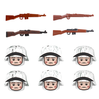 2017 new kazi 4pcs building blocks wolf tooth field team militray army weapons compatible with legoe solider bricks toys NEW WW2 soldier Military Weapon Accessories Building Blocks Army Figures snow soldier Figures G43 guns Weapons parts Bricks Toys