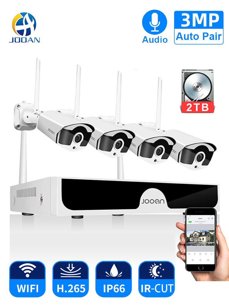 Jooan Camera-Set Audio-Record Video-Surveillance-Kit Wifi CCTV Security IP Wireless-System
