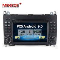 PX5 4GB+64GB Android 9.0 Car multimedia player for Mercedes Benz B200 A B Class W169 W245 Viano Vito Sprint W906 with DSP IPS