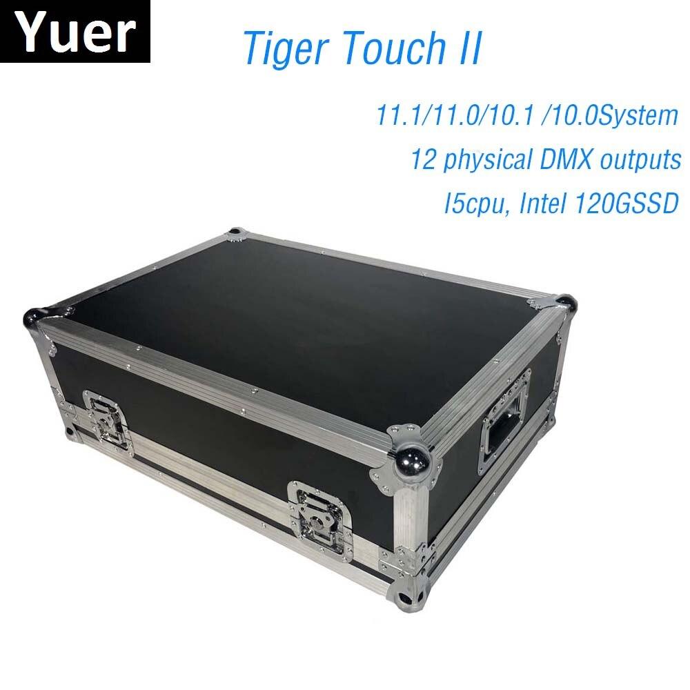 Système d'exploitation Titan contrôleur tactile tigre contrôle de la Console d'éclairage de scène LED lumières principales mobiles 6144 canaux DMX