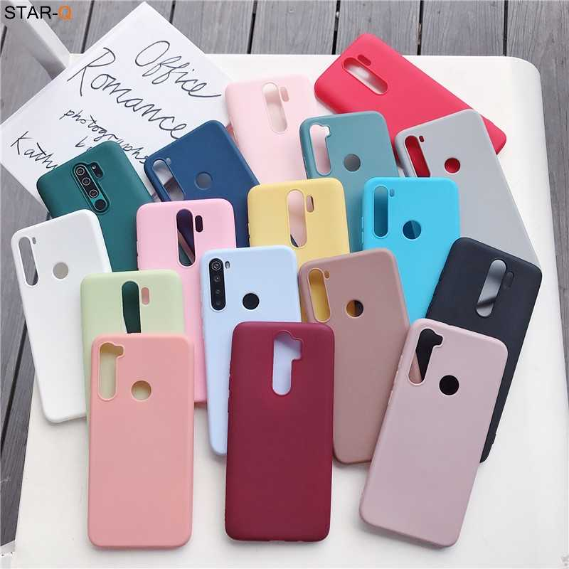 17 candy colors silicone case for xiaomi redmi note 8 pro 8t 7 7a 8a k20 k30 5 6 pro 8 t xiomi matte soft tpu back cover fundas