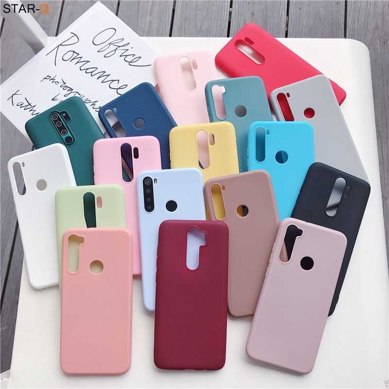 candy colors silicone case for xiaomi redmi note 8 pro 8t 7 7a 8a k20 5 6 pro 8 t redmi 9 xiomi matte soft tpu back cover fundas(China)