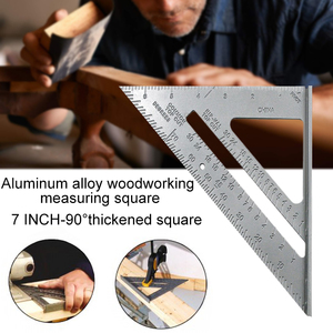 Measurement Tool Square Ruler Aluminum Alloy Speed Protractor Miter For Carpenter Tri-square Line Scriber Saw Guide -1