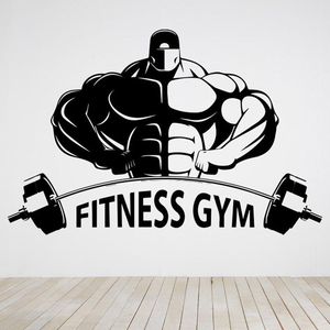 Bodybuilder Gym Wall Decals Fitness Sport Muscles Wall Sticker Vinyl Decal Mural Removable Gym Decoration Accessories C361