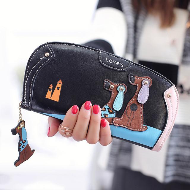Cartoon dog women purse