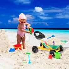 Children Ride On Sand Dumper With Wheels Outdoor Sandbox Toy Wheelbarrow For Kids Green