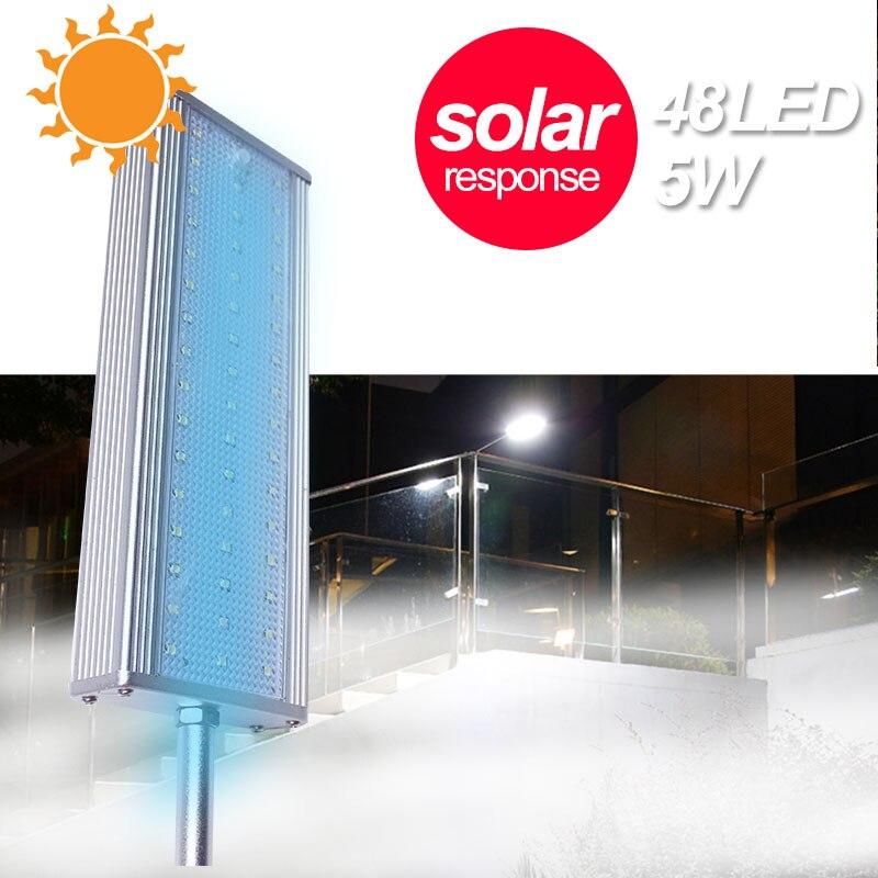 luzes da passarela 48led jardim eco friendly rua lampada de parede luz solar sensor radar ip65