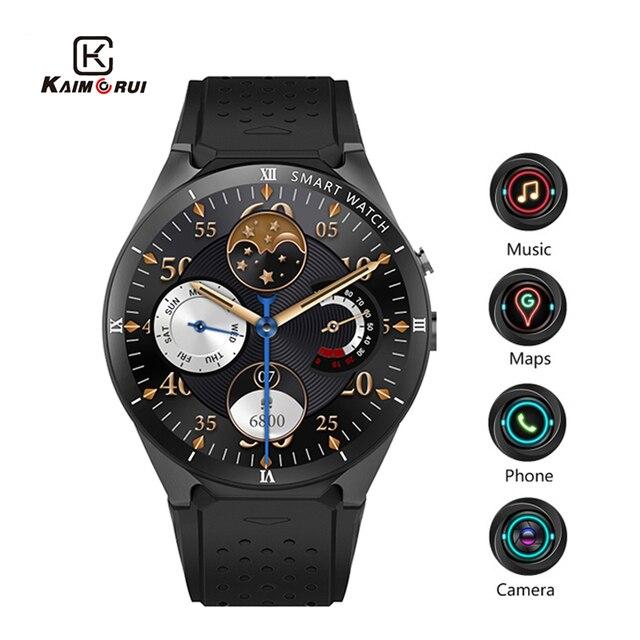 Kaimorui KW88 Pro Android 7.0 Smart Horloge Met Camera 1 Gb + 16 Gb Bluetooth MTK6580 3G Sim kaart gps Wifi Smartwatch Voor Ios Android