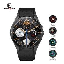 Kaimorui kw88 pro android 7.0 relogio inteligente com câmera 1 gb + 16 gb bluetooth mtk6580 3g sim cartão gps wifi smartwatch para ios android