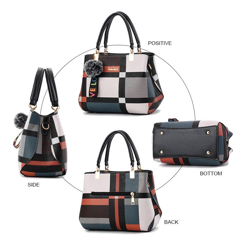 New Women Handbags Casual Plaid Shoulder Bag Fashion Stitching Wild Messenger Brand Female Totes Patchwork Crossbody Bags Alexa