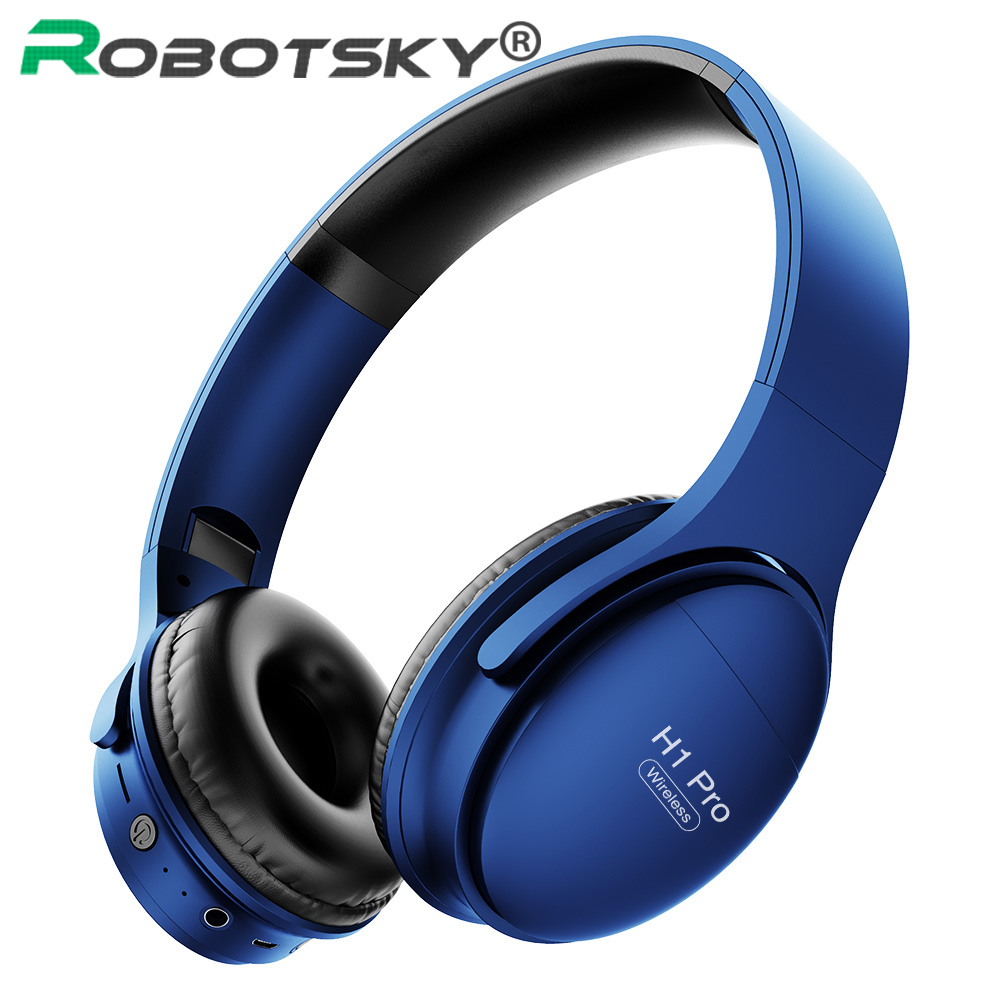 H1 Pro Wireless Bluetooth Headphones HiFi Stereo Gaming Headset V5.0 Foldable Earphone With Micphone Support TF Card