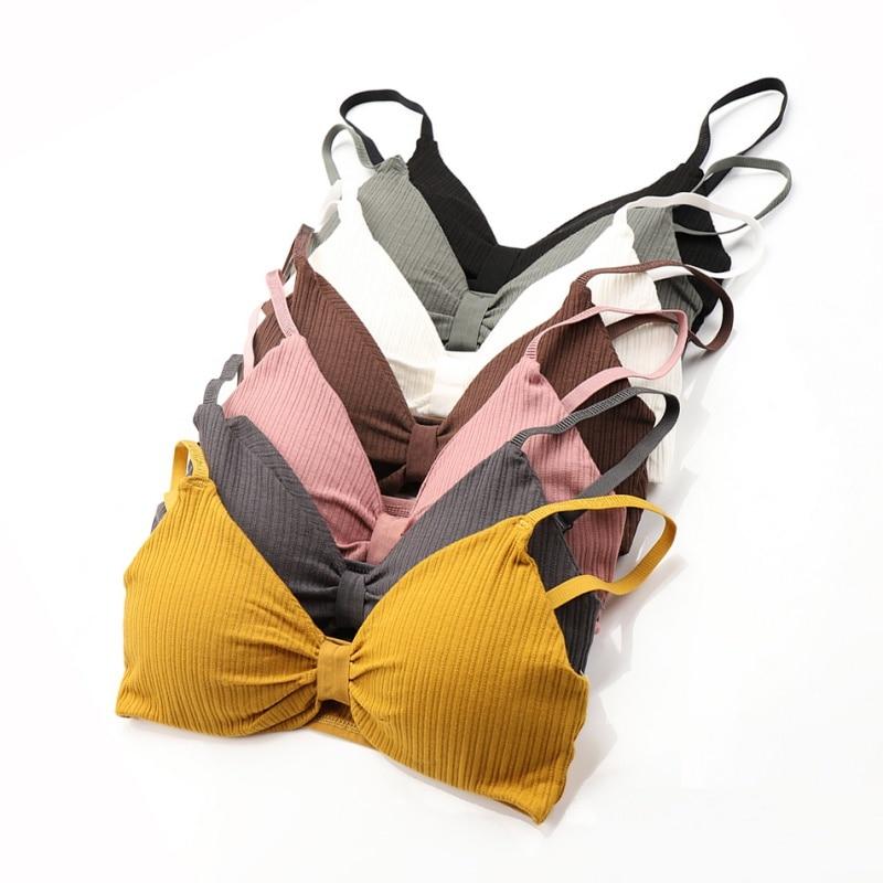 Sexy Push Up Women Bras Intimates Female Tube Tops Underwear Wire Free Bra Cotton Tubes
