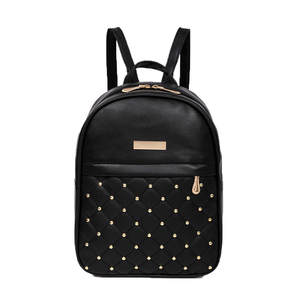 Rivet Backpack Mochila Causal-Bags Femme Fashion Women Female Bead Dos Sac Mujer