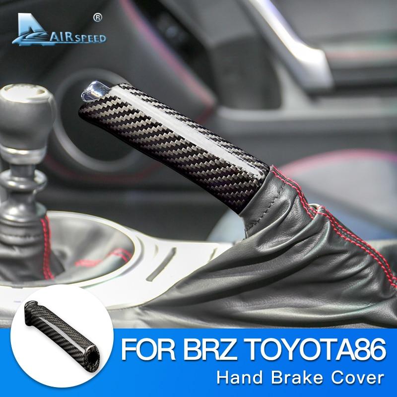 AIRSPEED for Subaru BRZ Toyota 86 Accessories Hard Carbon Fiber Car Replace Handbrake Grip Hand Brake Cover Handle Interior Trim