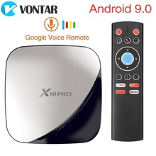 X88 PRO TV Android 9.0 4GB pamięci RAM 128GB 64GB 32GB Google asystent głosowy RK3318 Quad rdzeń Wifi 4K X88PRO 2GB 16 GB, set top box