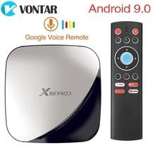 X88 PRO TV Box Android 9.0 4GB di RAM 128GB 64GB 32GB Google Assistente Vocale RK3318 Quad core Wifi 4K X88PRO 2GB 16GB set top box