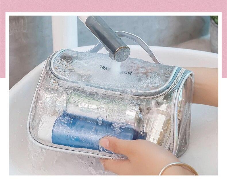 saco claro saco de higiene pessoal organizador