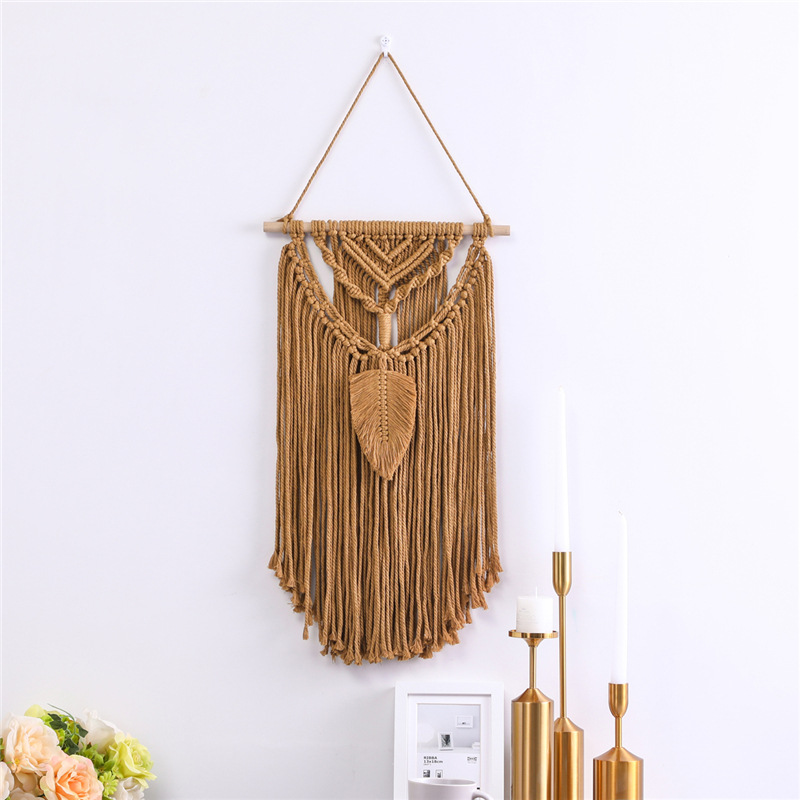 Macrame Tapestry Wall Background Living Room Home Decor Hand-woven Cotton And Linen Nordic Fashion Style Ornaments