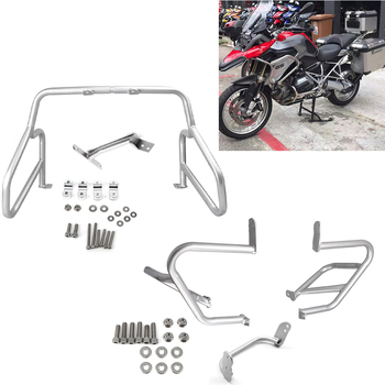 Motorcycle Engine Bumper Guard Crash Bars Protector For BMW R1200GS GS 1200 LC 2013 2014-18 One set of Frame Protection motorcycle one set of frame protector upper lower crash bar engine tank guard bumper for bmw r1200gs r 1200 gs 1200gs 2007 2012