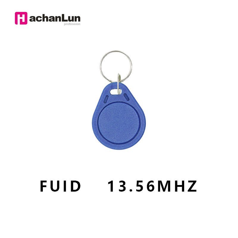 5PCS RFID Access Control Keychain 13.56Mhz Nfc Smart Chip Card FUID One Time 0 Sector Writable Token Secret Key Tag