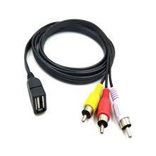 Dutek – adaptateur de caméscope vidéo A/V pratique USB 2.0 femelle à 3 RCA mâle 5 pieds/1.5m, rallonge Audio, lot de 1 sac en polyéthylène