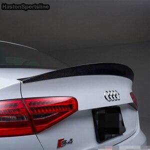 Image 4 - Aileron arrière en Fiber de carbone, modèle S4 HK, pour Audi A4 B8.5 S4 4 portes, 2013 ~ 2016