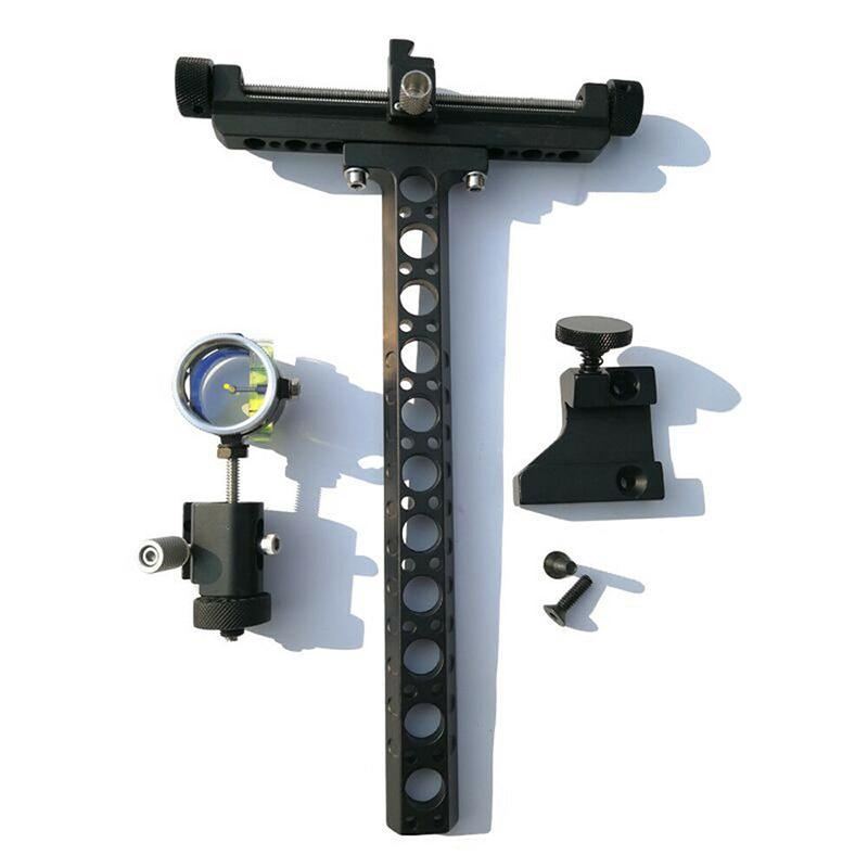 1 Set Compound Bow Sight Archery 4X Lens Long Bracket Training Practice
