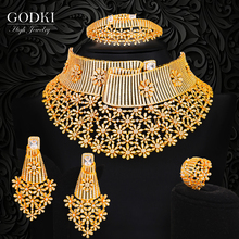GODKI Luxury BIG Flowers Nigerian Statement Necklace Earring Jewelry Set For Women Wedding Indian Dubai Bridal Jewelry Sets 2020 falckenskiold seneque othon de memoires de m de falckenskiold