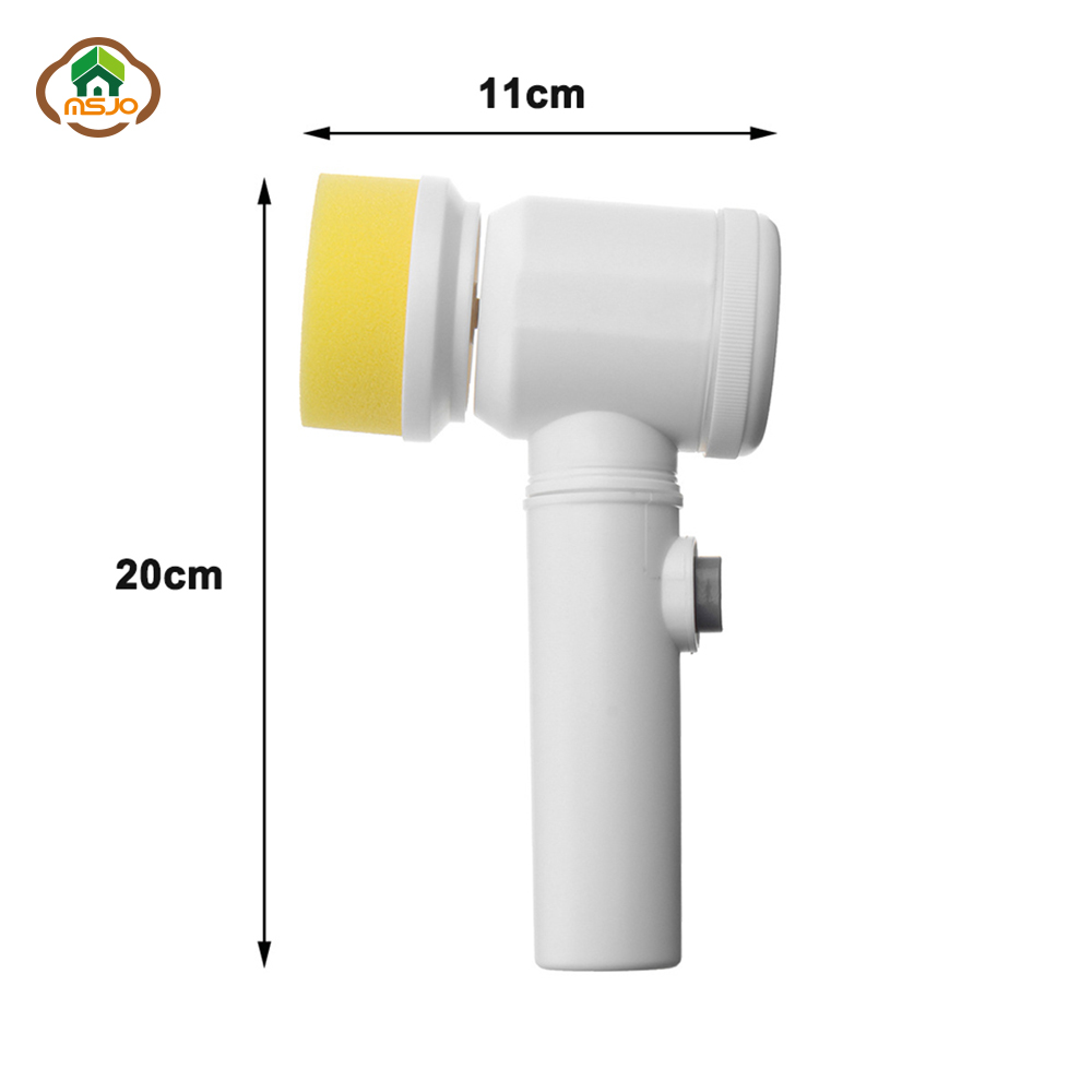 MSJO Electric Cleaning Brush Spin Scrubber Hurricane Bathtub Muscle Scrubber Bathroom Brush For Toilet Household Cleaning Tools in Cleaning Brushes from Home Garden