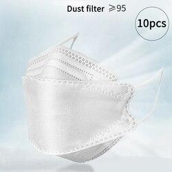 10 Uds máscara desechable KF94 máscara bucal N95 anticontaminación máscara antiniebla cómoda prevención antisalpicaduras máscara cuidado