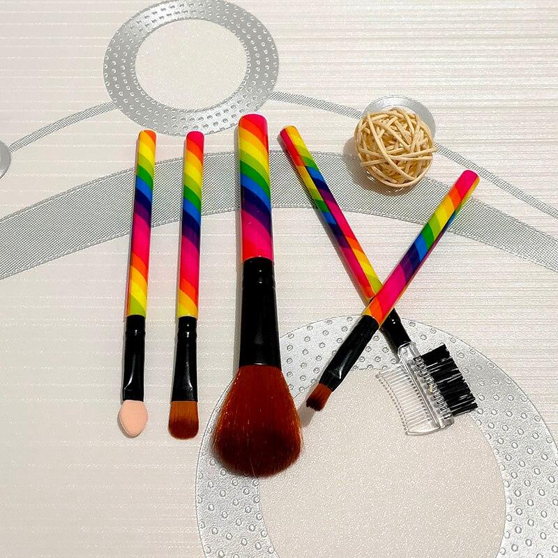 5 pcs set Makeup Brushes Set Cheek is red brush/Lip brush/eye shadow is brushed/eyeshadows stick/Double eyebrow brush