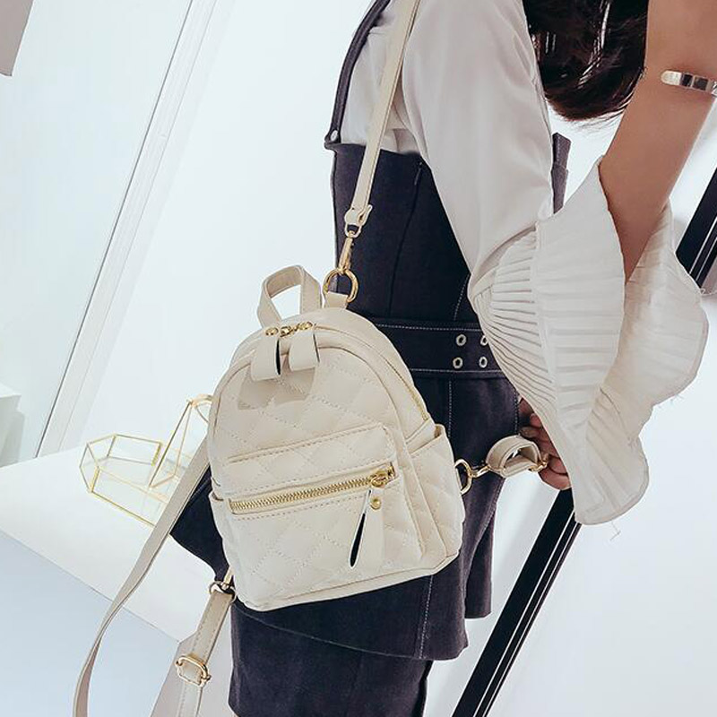 Women's Backpacks For Teenage Girls Schoolbag Backpack Fashion Mini Shoulder Bag Preppy School Style PU Leather Rucksack Mochila