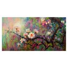 100% ручная роспись абстрактный цветок искусство Масляная живопись