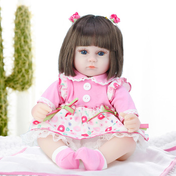16inch 42CM Silicone Reborn Baby Doll Soft Lifelike Babe Cloth Body Toddler Bonecas Reborn Babies Birthday Toys Best Playmate 48cm reborn baby doll toddler girl pink princess soft full body silicone babies dolls lifelike realistic bonecas toys for kids