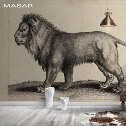 MASAR 3D HD животные Фотообои со львами, экологически чистые, водонепроницаемые обои, гостиная, обои для прихожей king