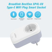 Broadlink SP4L EU Wi Fi Plug Smart Outlet 16A, Remote Control Timing Switch Works With Alexa Google Assistant IFTTT
