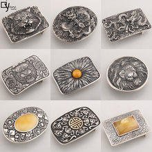 925Silver belt buckle Smooth buckle Sterling silver belt buckle silver ornament buckle men's waistband head