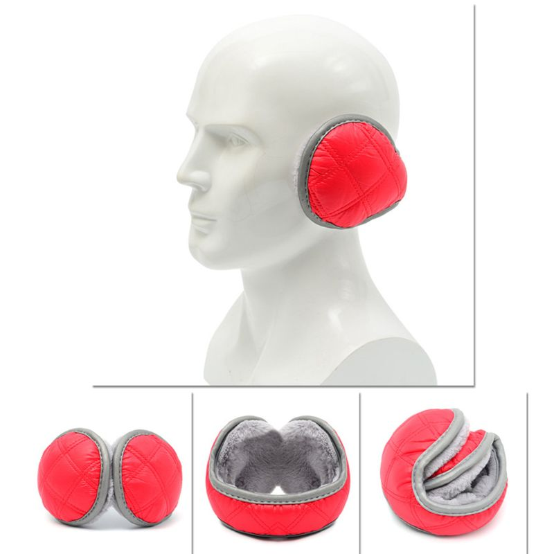 Unisex Waterproof Earmuffs With Reflective Strip Plush Lining Foldable Ear Cover High Quality And Brand New