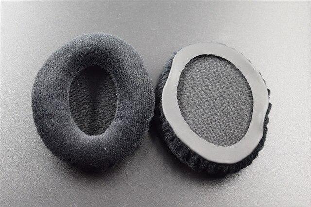 1 paire de cache-oreilles de coussin doreille en mousse de velours de remplacement pour les pièces de réparation de casque doreille Sennheiser