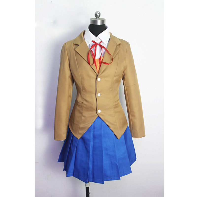 Cosplay Costume Doki Literature Club Monika Sayori Yuri Natsuki  School Uniform Girl Game