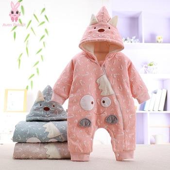 Ropa de bebé de dibujos animados de conejo de Aven, mono de bebé de manga larga, ropa con capucha de dibujos animados, ropa cómoda de capa de aire para bebé