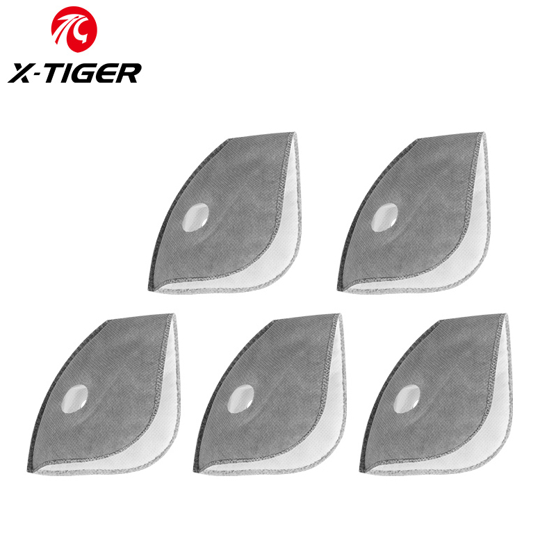 X-TIGER Cycling Face Mask Filter Antiviral Mask Filters PM2.5 Anti-pollution Dust-Proof Protect Actived Carbon Filters