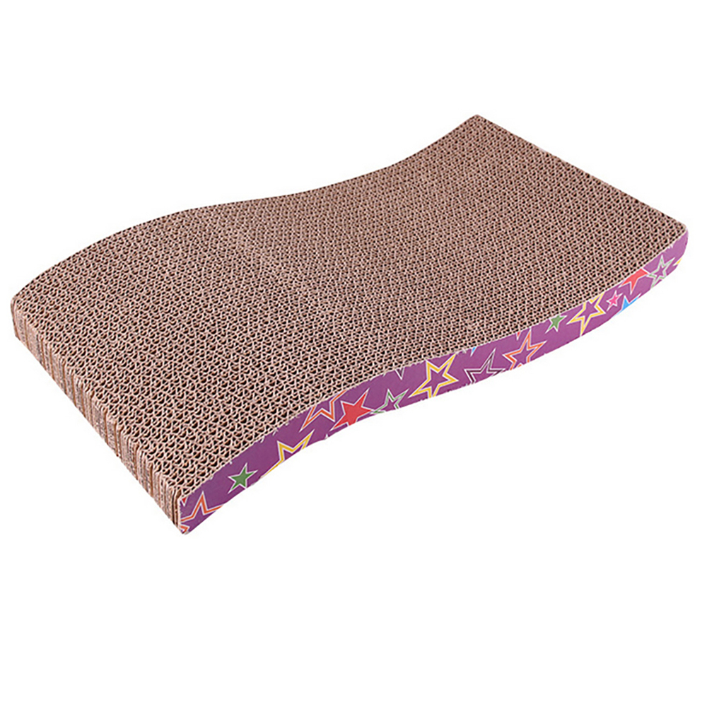 Corrugated Paper Cat Scratcher For Kitten Catnip Cat Scratching Pad Board Mat Scratcher For Cats Pet Toy Game Accessories in Furniture Scratchers from Home Garden