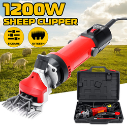 Cortador de pelo eléctrico de oveja y mascotas con enchufe europeo de 1200W, Kit de corte de lana, suministros de cizallamiento de animales de cabra y animales, máquina de corte para granja